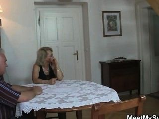 She Fucks With His Parents When He Left