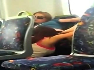 Lesbians - Girl Busted On Phone Cam Eating Her Friend Out On The Train