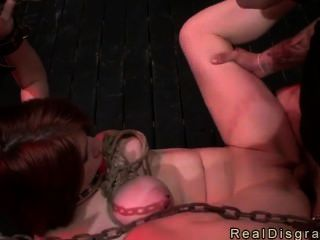 Chained Busty Redhead Fucked