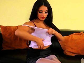 Brunette Girl With Glamorous Strip