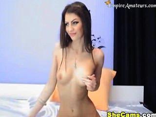 Burnette Loves The Taste Of Her Own Pussy!