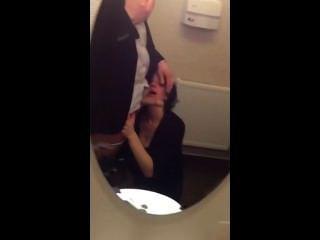Wife Sucking In Public Toilet
