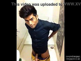 Indian Teen Jerks In Bathroom