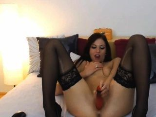 Amazing And Kinky Girl With Dildo Action On Cam!
