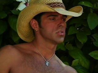 Hot Cowboy Outdoor Bath