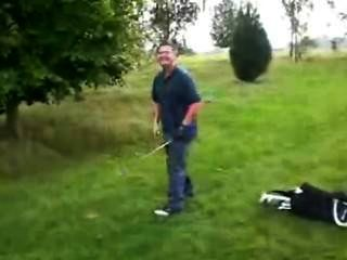 -(©¿©)- Golfer Shows His Erection - After Losing His Game On A Dare