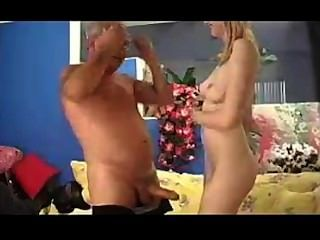 Pigtail Blonde Seduced By Old Man