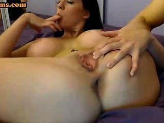 Huge Boobs Milf Fingering Pussy