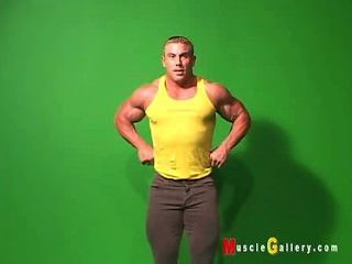 Posing Bodybuilder Greg Jones