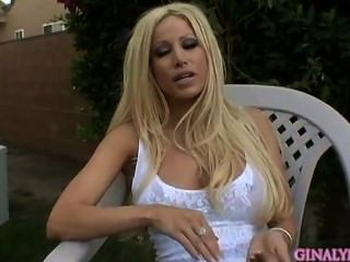 Gina Lynn Interviewed Before Shooting A Scene