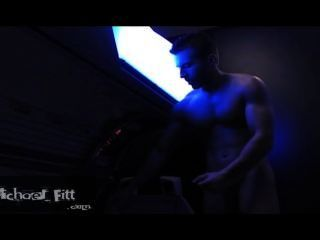 Michael Fitt In The Tanning Booth