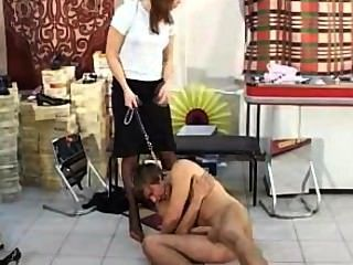 Footjob Stiletto Man Humiliation Nylon