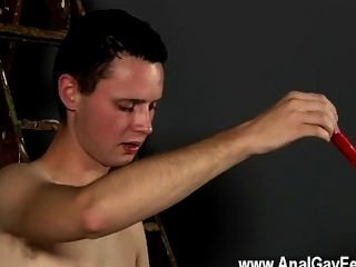 Hot Twink Splashed With Wax And