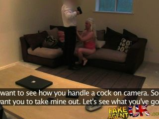Fakeagentuk Sexy Blonde Amateur Orgasms On Agents Cock During Sex Casting