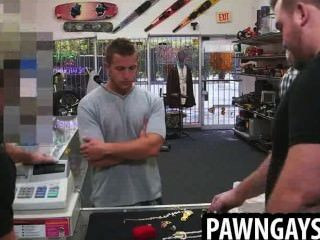 Horny Amateur Hunk Tries To Make A Deal The Pawn Shop