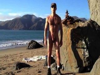Beach Wank Exhibition Squirt