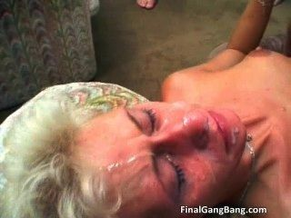 Sexy Blonde Milf Gets Her Last Gangbang Part5