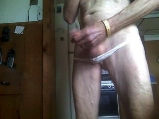 White Panties And Cum