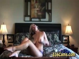 Hot Blonde Teen Strips And Cums On Webcam