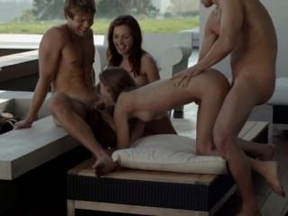 Exquisite Foursome On The Balcony Art