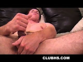 Amateur Hunk Wearing A Cock Ring Tugging Himself
