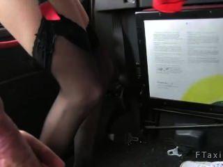 Flight Attendant Fucked In Taxi