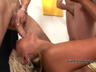 Sexy Blonde Has A Cosk Feast