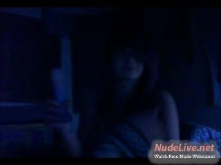 Very Hot 19yo Emo Teen Licks A Dildo Like A Sundae On Webcam
