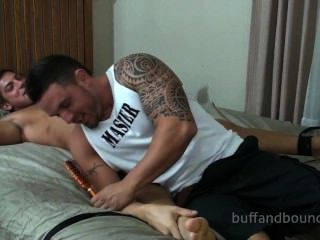 Gorgeous Bodybuilder Bound And Tickled - Marky Best