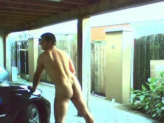 Bi Married Guy Masturbating In Outside