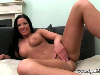 Sexy Amateur Brunette Gets Licked By Her Agent