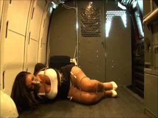 Sexy Reporter In A Van