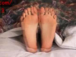 Latina Soles On Bed