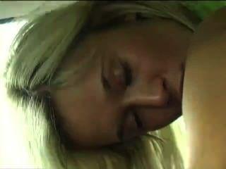 Sexy Teen Masturbates In Her Car