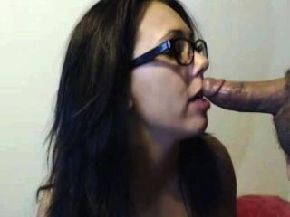 Hot Brunette Sucks And Fucks For Cum On Her Face