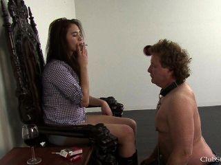 Ashtray-slave-gets-a-feeding