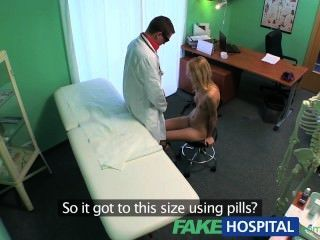 Fakehospital Slender Squirting Hot Sexy Blonde Wants Breast Implant Advice