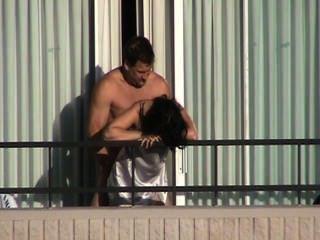 Hot Balcony Fuck 1