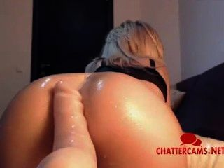 Hot Sexy Sweaty Ass Blonde Toy Tease