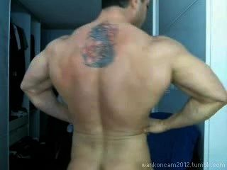 Muscle Hunk Cums Twice On Cam.