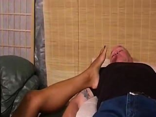Pale Slave Worships Feet Of Ebony Angel Goddess