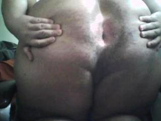 Chubby Boy Spreads Ass
