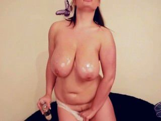 Big Boobed Chubby Babe Gets Messy With Baby Oil