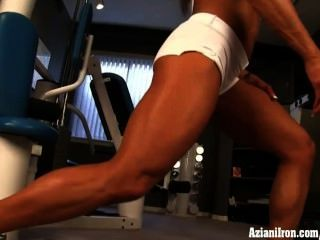 Hot Fbb Pro Has A Hot Naked Work Out