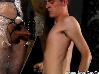 Hot Gay Cristian Is Nearly Swinging, Packaged Up In Wire And Chained To