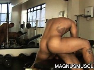 Douglas Masters And Matheus Axell: Latino Muscle Buffs Ass Addicts