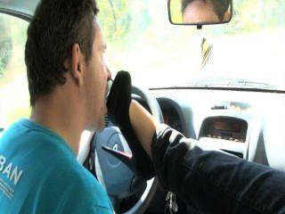 Car French Fetish Feet Lick