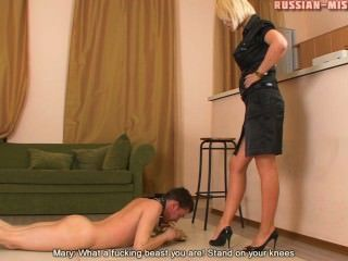 Russian Mistress Mary Foot Worship