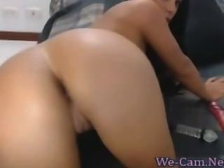 Big Natural Tits Brunette Camgirl Masturbates Toy Hot Webcam Show