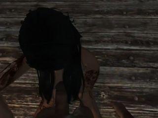 Skyrim Babe Megan Fox Sucks And Fucks You
